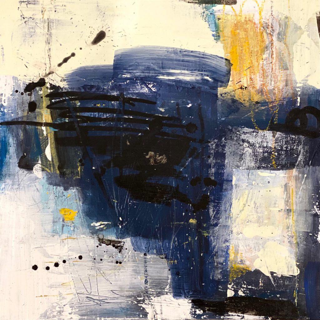 Mixed Media Abstract Artwork on Board
