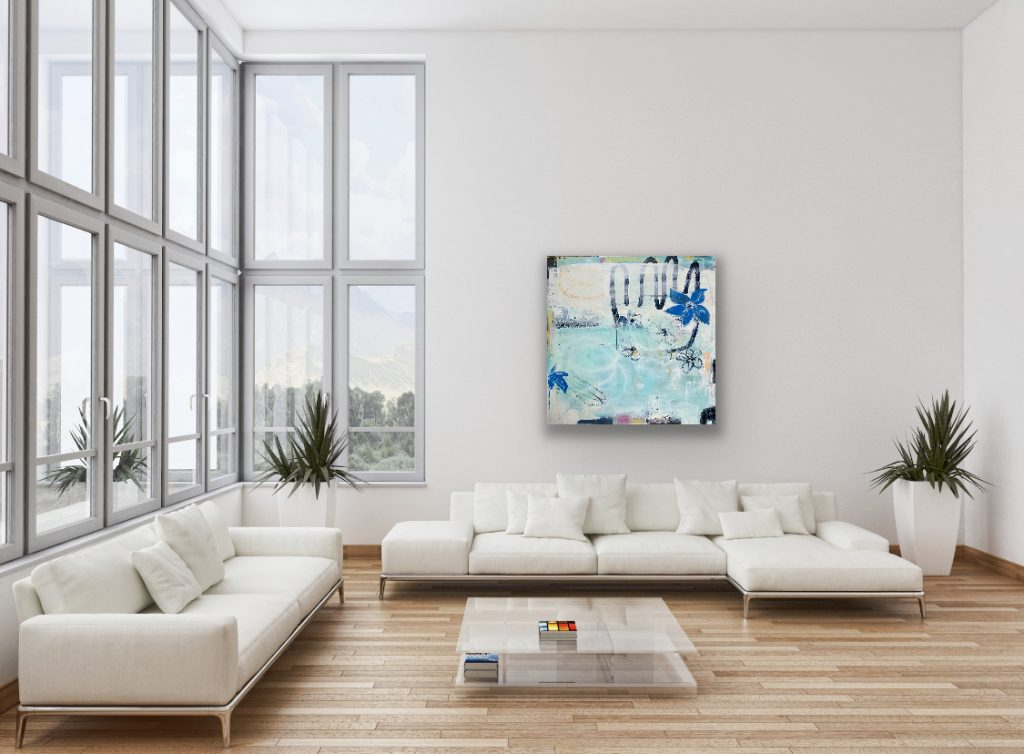 Abstract Painting of a Seaview